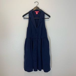 Super Cute Catherine Malandrino Navy Dress Size 12